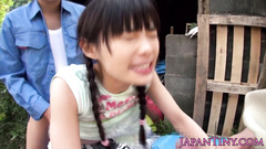 Barely legal Japanese teen gets roughly fucked