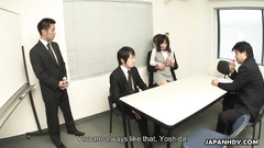 Business meeting with Japanese girl turns out sexy