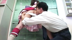 Costumed Asian amateur gets licked and owned