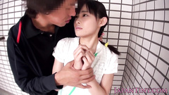 Asian cutie is being hotly excited with hot fondling