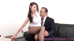 Busty Japanese chick covets to horny fucker
