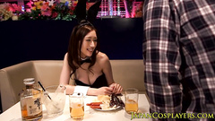 Charming sexy Japanese girl agrees to fuck at restaurant