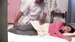 Massaging a Japanese girl gives way to her cunt