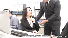 Busty Asian girl stretched and worked up by group