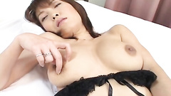 Big titted mature masturbating with small dildo