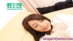 Adorably sexy Japanese beauty gets undressed and masturbated