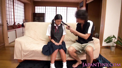 Adorable Japanese cutie is getting passionately fucked