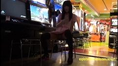 Teen Japanese slut plays big dildo dick in front of the camera
