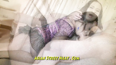 Asian sex worker shows the free way to her peachy nub