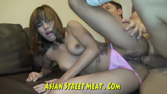 Asian girl gets into the disposal of the anal specialist