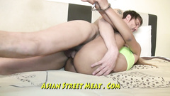 Philippines girl gets tied up and fucked hard in the hotel