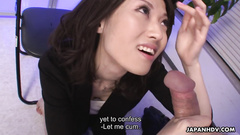 Small titted Asian wild oral and boob fuck on camera