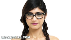 Sweet young Arab girl Mia Khalifa is excitingly posing in front of the camera